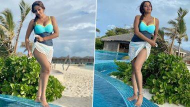 Monalisa Sexy Photos: मोनालिसाने ब्लू मोनोकिनीमधले शेअर केले तिचे हॉट फोटो, पाहून तुम्ही ही व्हाल हैराण