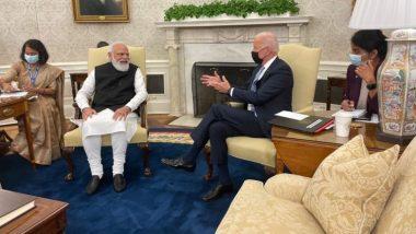 PM Mod-Biden Bilateral Meeting: भारताचे पंतप्रधान नरेंद्र मोदी व्हाईट हाऊस येथे दाखल, अमेरिकचे राष्ट्रपती जो बायडन यांच्यासोबत सुरु झाली द्विपक्षीय बैठक