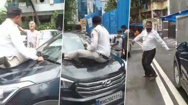 Traffic Police Seated On Car Bonnet: मुंबईमध्ये ट्रॅफिक पोलिसावर वाहन चालकाचा मुजोरीपणा, बोनेटवर बसवून नेले फरफटत, चालकावर गुन्हा दाखल