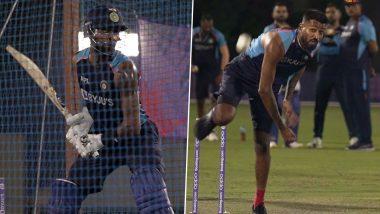 T20 World Cup 2021: न्यूझीलंडविरुद्ध सामन्यापूर्वी टीम इंडियासाठी  खुशखबर; सराव सत्रात दिसला हार्दिक पांड्याचा All-rounder अवतार; पहा Photos