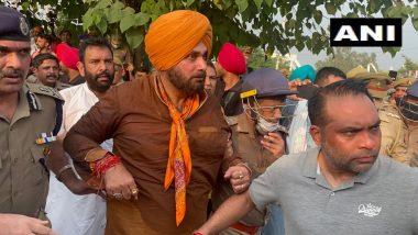 Lakhimpur Kheri Violence: नवजोत सिंह सिद्धू यांच्यासह काँग्रेस कार्यकर्ते पोलिसांच्या ताब्यात