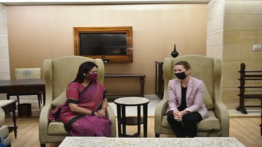 Denmark PM Visit To India: डेन्मार्कच्या पंतप्रधान मेटे फ्रेडरिक्सन तीन दिवसीय भारत दौऱ्यावर, राष्ट्रपती रामनाथ कोविंद आणि पंतप्रधान नरेंद्र मोदींंची घेणार भेट