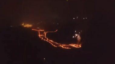 Pratapgad Fort: 'जय भवानी जय शिवाजी' जयघोषांसह, 361 मशालींनी उजळला किल्ले प्रतापगड (Video)