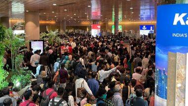 Mumbai International Airport वर सकाळी प्रवाशांच्या अनपेक्षित गर्दीने काही काळ गोंधळाची परिस्थिती, काहींच्या सुटल्या फ्लाईट्स; पहा फोटो, Videos