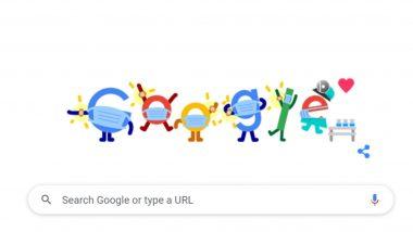COVID Vaccine Google Doodle: माझ्या जवळपासचे COVID लसीकरण केंद्र ची माहिती देणारं खास गूगल डूडल