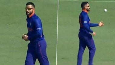 T20 World Cup 2021, IND vs AUS: कर्णधार रोहित शर्माने Virat Kohli कडे दिला चेंडू, ऑस्ट्रेलियाविरुद्ध सराव सामन्यात गोलंदाजी करताना पाहून नेटकरी फिदा (Watch Video)