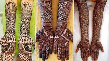 Navratri 2021 Mehndi Designs: नवरात्रीच्या उत्सवासाठी हातावर काढा 'या' सुंदर आणि आकर्षक मेहंदी डिझाइन
