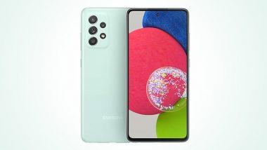 Samsung Galaxy A52s 5G चे Awesome Mint कलर व्हेरिएंट भारतात लॉन्च; जाणून घ्या किंमत आणि खासियत